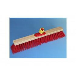 Smeták PVC 60cm, červený, plast.držák