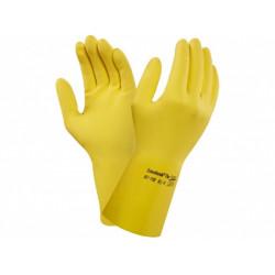 Rukavice gumové, žluté, č.7 (S)