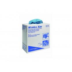 WYPALL* X80 Utěrky, modrá, 1 krabice x 80 utěrek