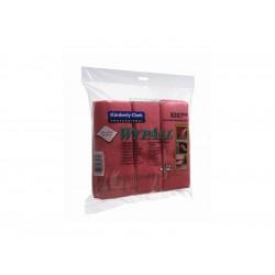 WYPALL* Utěrky mikro, červená, 40x40cm, 6ks/bal.