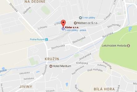 mapa Köder